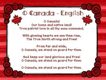 O Canada O Canada Lyrics O Canada Canada
