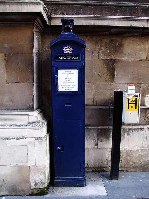 My, Doctor, haven't you lost weight? Police call box outside St Lawrence Jewry, near the Guildhall.