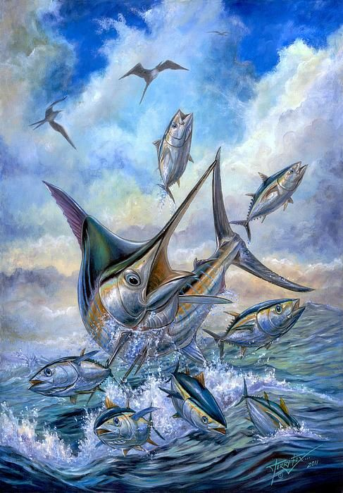 Blue marlin, Beautiful paintings and Tuna on Pinterest on Blue Fox Outdoor Living id=32771