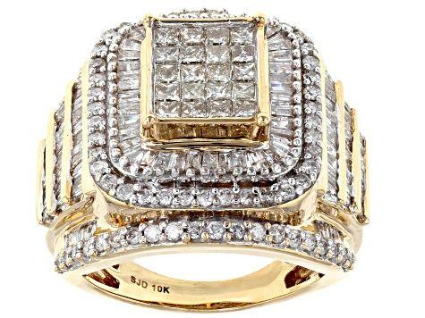 Diamond 10k Yellow Gold Ring 3 00ctw Hgd100 In 2020 Custom Gold Jewelry Yellow Gold Cocktail Ring Gold Rings