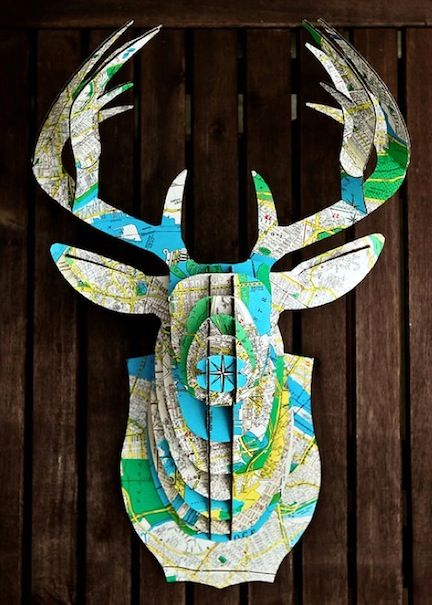 map deer head
