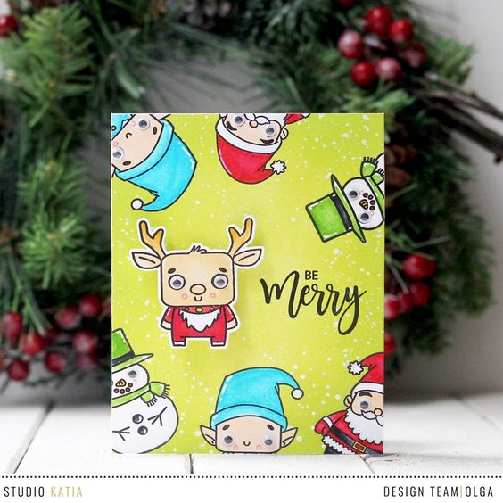 "153 Likes, 6 Comments - Studio Katia (@studiokatia) on Instagram: ""Olga (@olga.moss)'s card features new Friends of Winter Stamp Set with added cute googly eyes and…"""