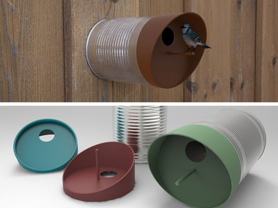 twee tin by indezigns / bird house / tin / design / gadget / recycle design / ecodesign / gadget / outside / garden / cool / bird /