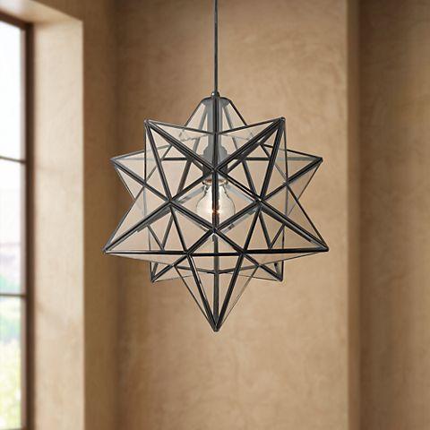 Clear Gl Star Pendant Light