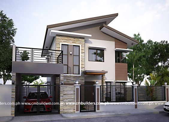 50 Small Two Storey House Designs That Can Be Fitted In Small Lot Area Philippines House Design Zen House Design Modern Zen House