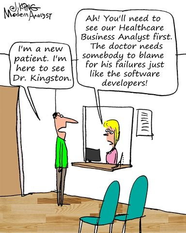 Humor  Cartoon Who To Blame  The Business Analyst  Business