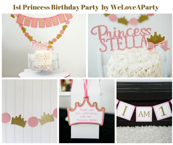 1st Birthday Princess Party by WeLoveAParty