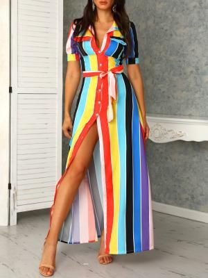 Colorful Stripped or Floral Prints Maxi