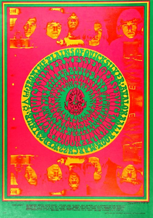 Quicksilver Messenger Service / John Lee Hooker, Avalon Ballroom, San Francisco, 1967, Artwork by Victor Moscoso