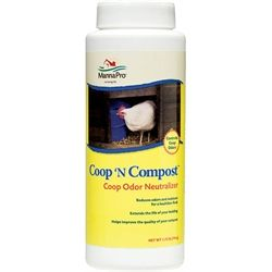 "This one's for those of you with ""nosy"" neighbors! This multipurpose odor neutralizer absorbs moisture and ammonia odors while extending the life of bedding.  It improves the quality of composted manure by making the nutrients in your manure and compost more plant-accessible. Can you be used in chicken coops, dog runs, litter boxes, rabbit boxes or anywhere ammonia odors are noticeable.     Contains naturally-occurring zeolite, which neutralizes odors in brooders and coops for a healthier…"