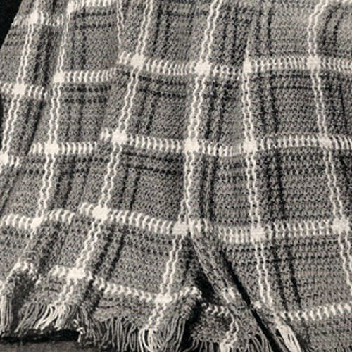 Free Plaid Crochet Afghan Patterns | ... plaid afghan is crocheted using a 1941 pattern from american