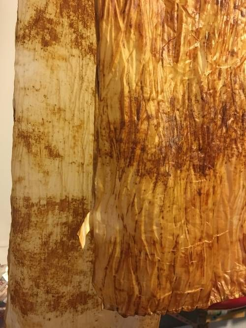 Rust Dye Scarves with Picture Tutorial - FIBER ARTS