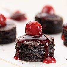 Brownie Bites with Cherry Pie Topping