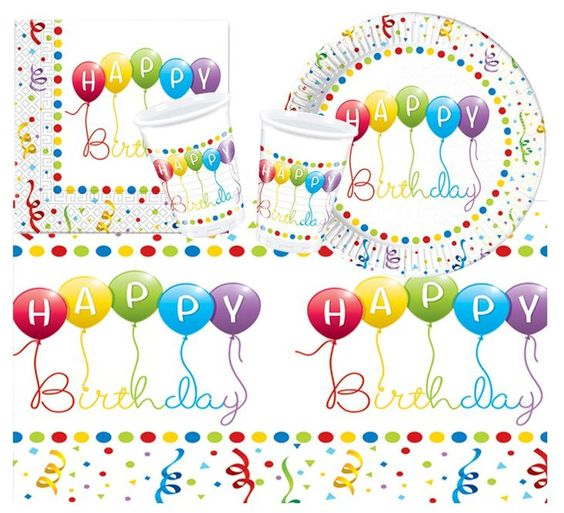 Procos 10105476 - Partyset S Happy Birthday Streamers: Amazon.de: Spielzeug