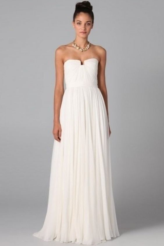 Buy Chic Prom Dresses Long A Line Strapless Chiffon Ivory Color ...
