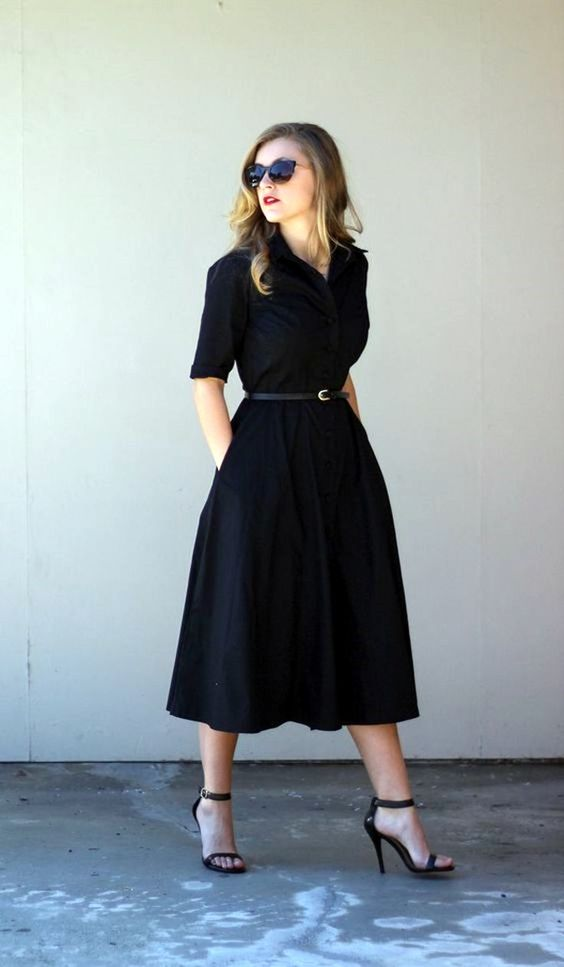 Super classy for work although I'd rather have dresses that only go up to my knees since I'm 5'.: