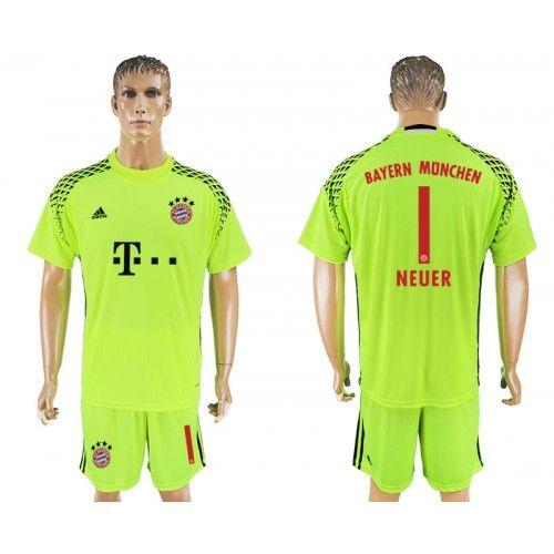 2017-18 Football Kit Bayern Munich 1 Neuer Goalkeeper Football ...