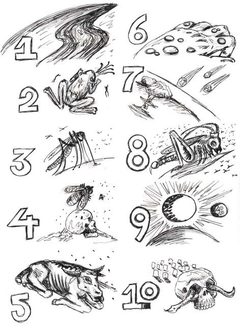 Les 10 plaies d 39 egypte divers visuels levangelisation for Ten plagues coloring pages