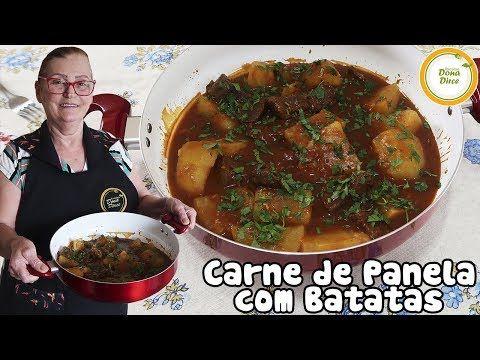 Carne De Panela Com Batatas Carne Cozida Na Panela De Pressao