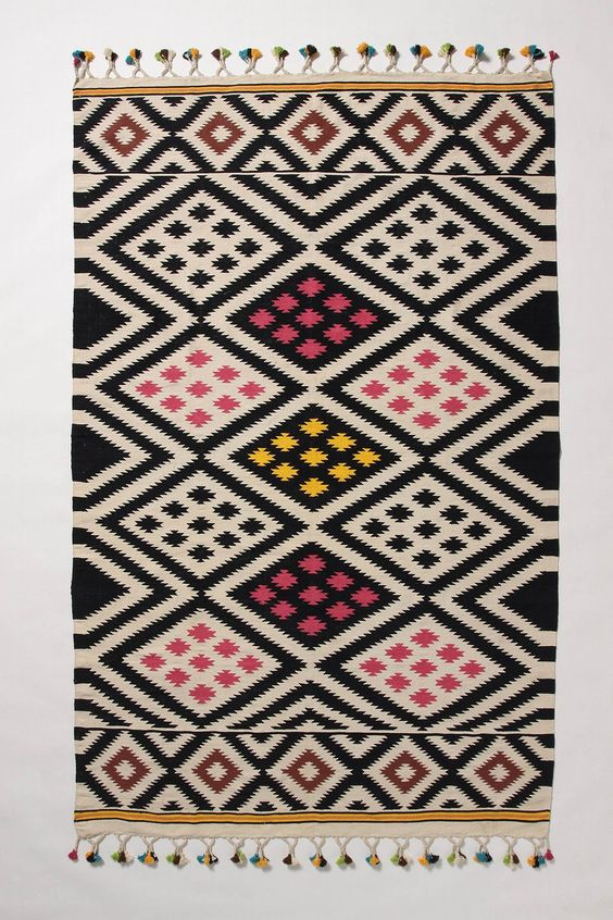 diamond jungle rug from anthropologie