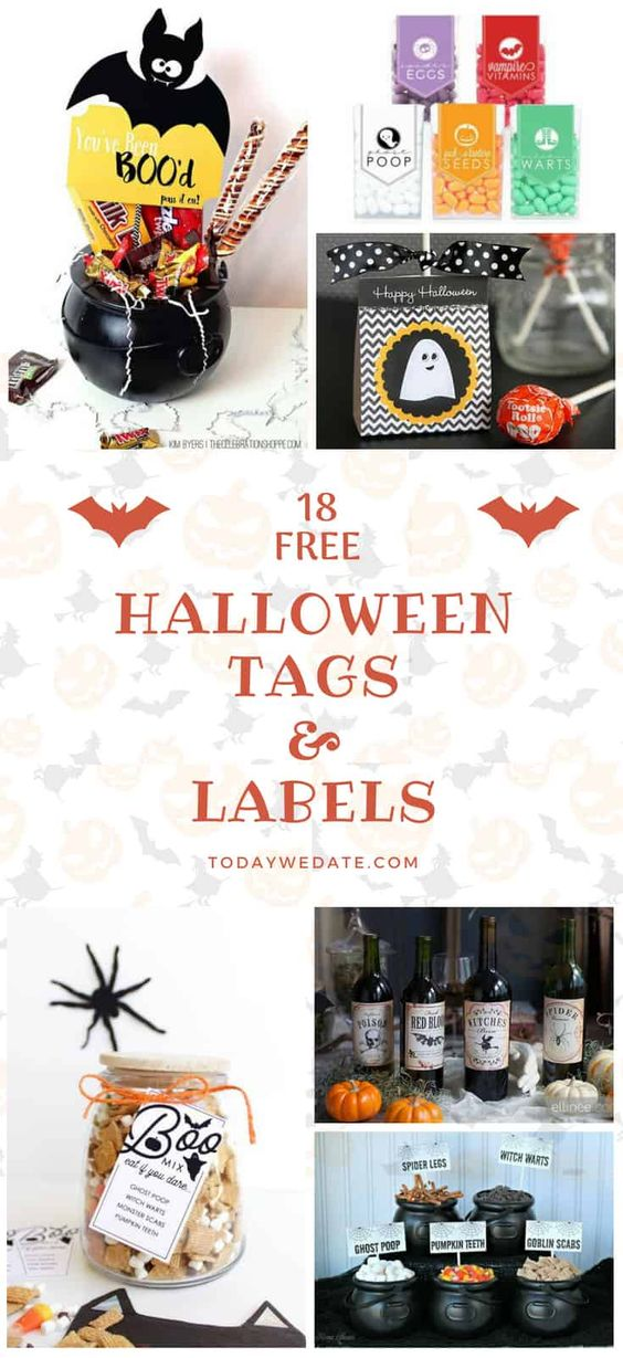 graphic relating to Free Printable Halloween Labels identify 64 Absolutely free Halloween Printables That Are Precisely Remarkable - At present