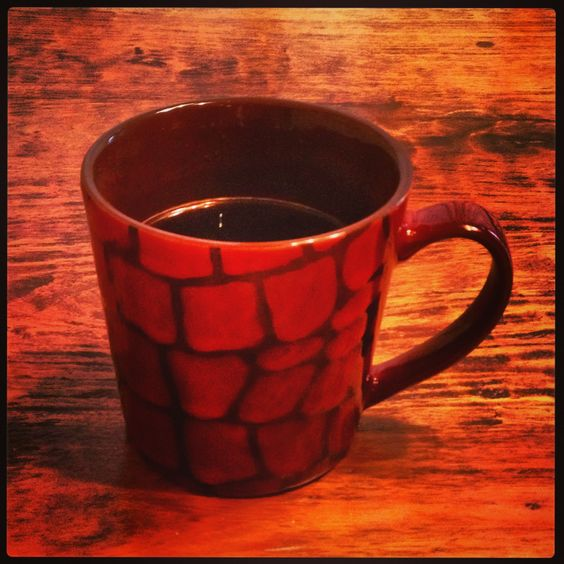Coffee 365: Need a big cup of coffee the morning! (Tully's Italian Roast in a new mug from my neighbor, Hannah)