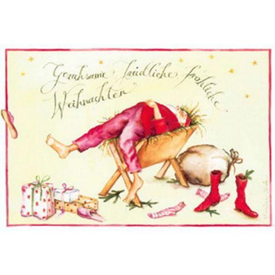 "Christina Thrän: Weihnachtskarte ""Krippe"""