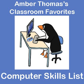 Has the role of  - computer skills list