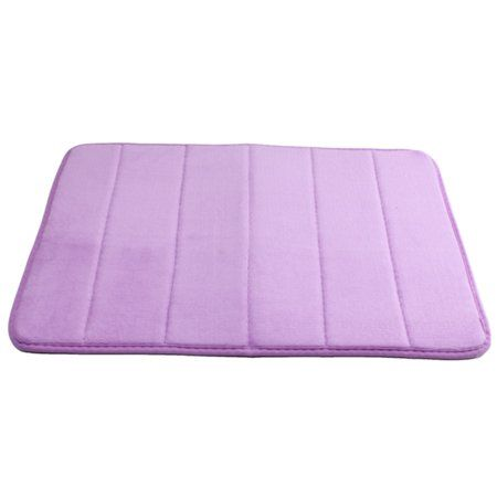5pcs Purple Absorbent Soft Memory Foam Rug Bath Mat Bathroom