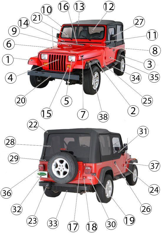 Best Jeep Wrangler Yj Used Parts Jeep Wrangler Jeep Wrangler Parts