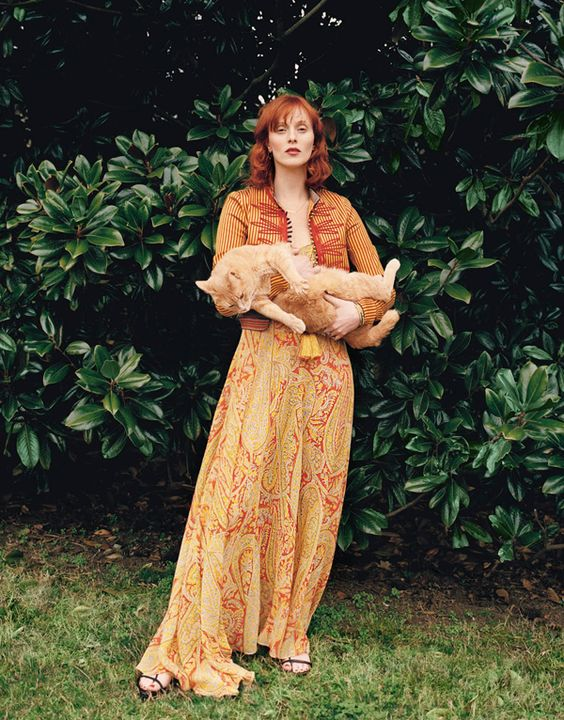 "shallowedinthesea:  """"Karen Elson photographed by Pamela Hanson for Porter Magazine #20 Summer 2017  "" "":"