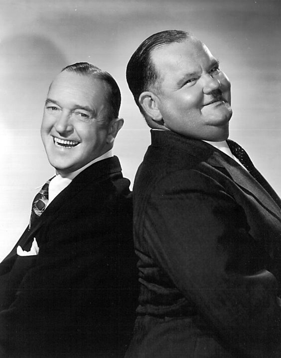 Laurel and Hardy were one of the most popular and critically acclaimed comedy double acts of the early Classical Hollywood era of American cinema. Composed of thin Englishman Stan Laurel (1890–1965) and large American Oliver Hardy (1892–1957), they became well known during the late 1920s to the mid-1940s for their slapstick comedy, with Laurel playing the clumsy and childlike friend of the pompous Hardy. They made over 100 films together.