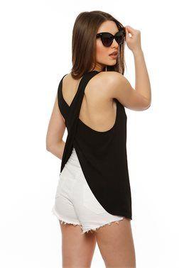 Backless Cross Top - ΡΟΥΧΑ -> Μπλούζες | Made of Grace
