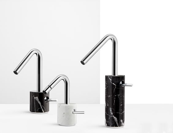the series showcases where the uniqueness of the stone and the unpredictable veins of the marble make every piece unique.