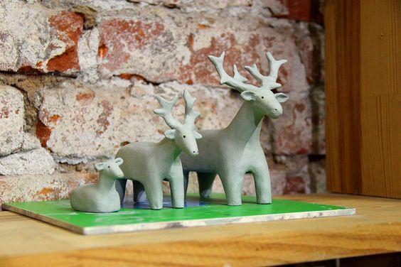 Милые оленята, выполненные в стенах уютной студии. Фото Жени Шведы