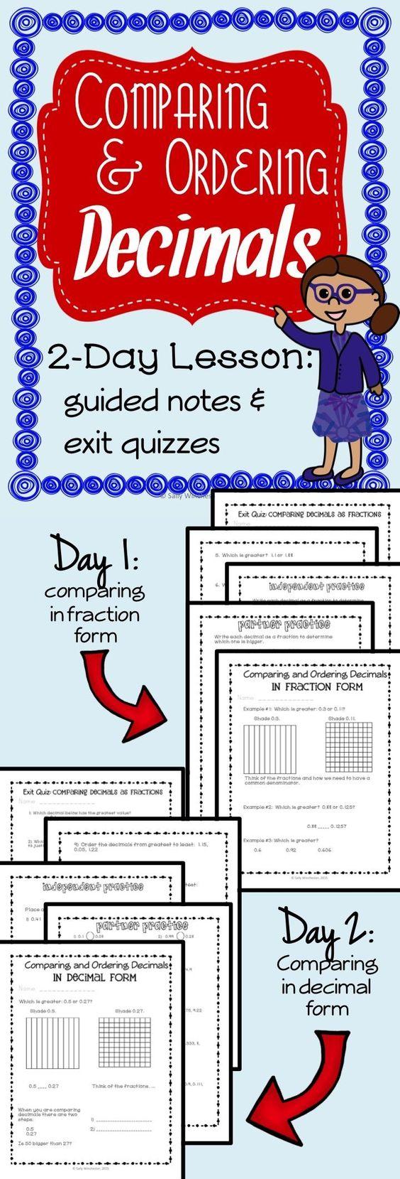 math worksheet : ordering decimals decimal and 5th grade math on pinterest : Decimal Of The Day Worksheet