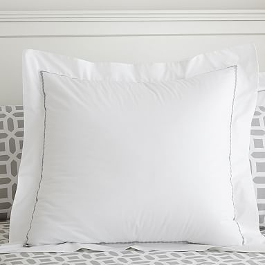 Pop Dot Duvet Cover + Sham, Light Grey