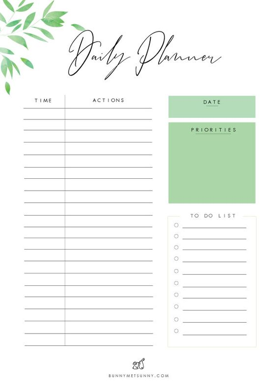 Leaves Theme 1 - Planner Pages 2019