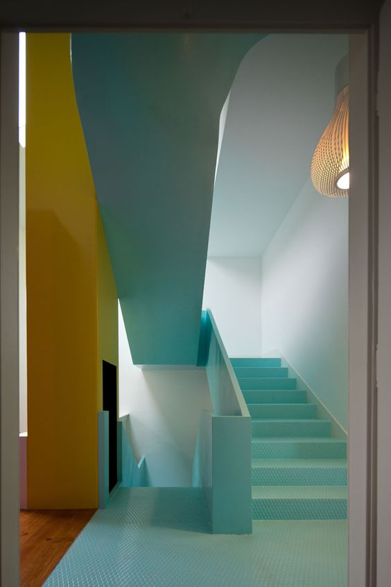 bunte Kombination // colorful stairway