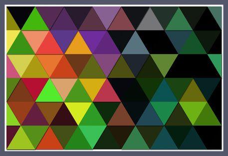 'Triangle+'+von+Viktor+Peschel+bei+artflakes.com+als+Poster+oder+Kunstdruck+$30.49