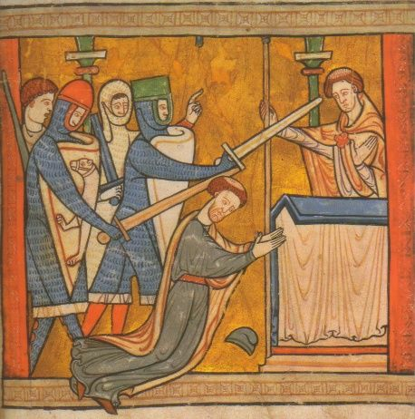 the death of thomas becket case Archbishop of canterbury, thomas becket, was murdered on the 29th december, 1170henry ii had supposedly lost his temper and yelled something along.
