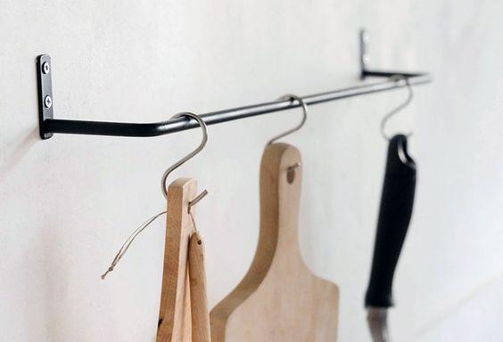 Multipurpose Black Iron Towel Bars from Japan: Remodelista