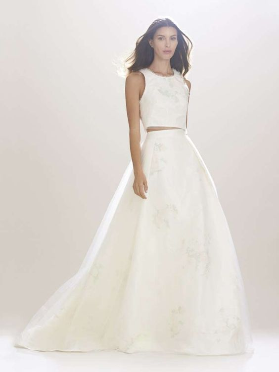 Carolina Herrera abiti da sposa 2017 - Abito da sposa crop top Carolina Herrera