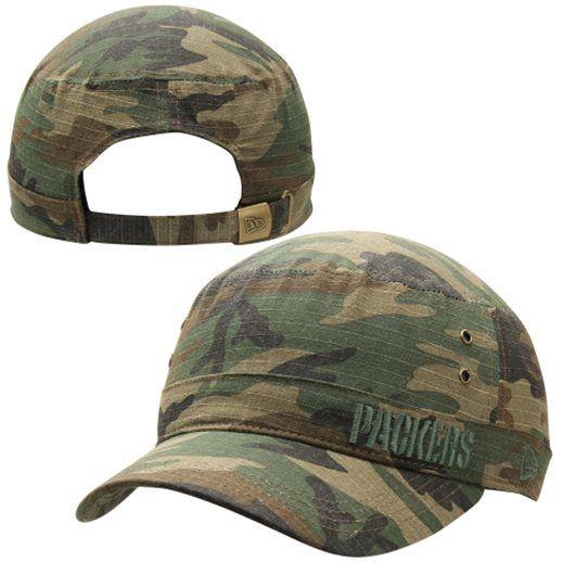 New Era Green Bay Packers Green Camo Fever Cadet Adjustable Hat