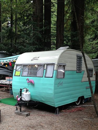 Trailers in the Trees 2013. Felton, CA- looks like Smithwoods park where I lived