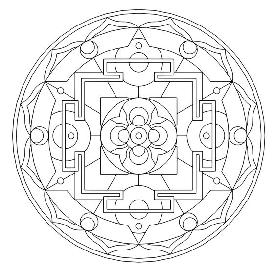 sacred geometry coloring pages - photo #21