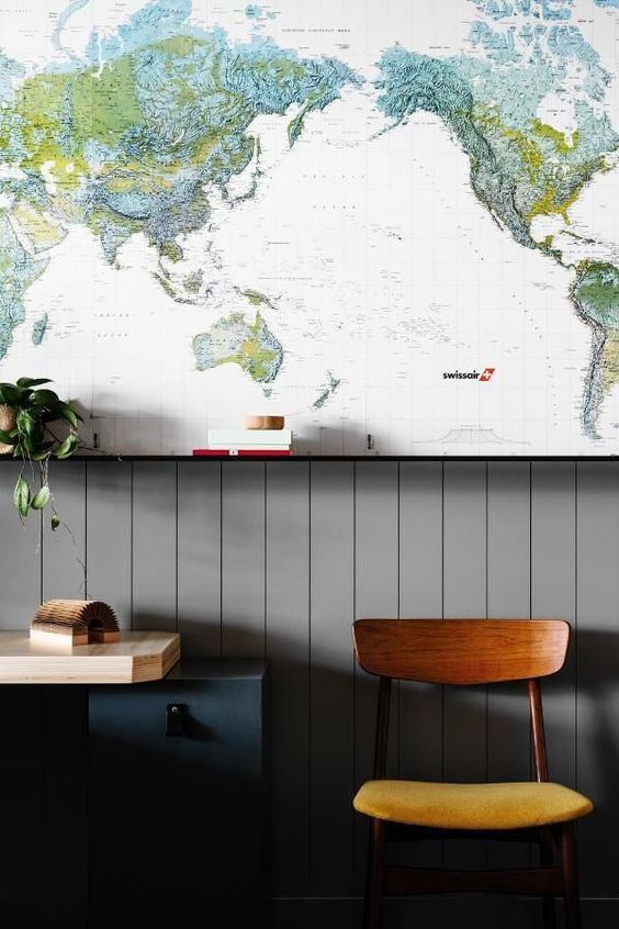 Map wallpaper - Working on a Saturday (via Bloglovin.com )
