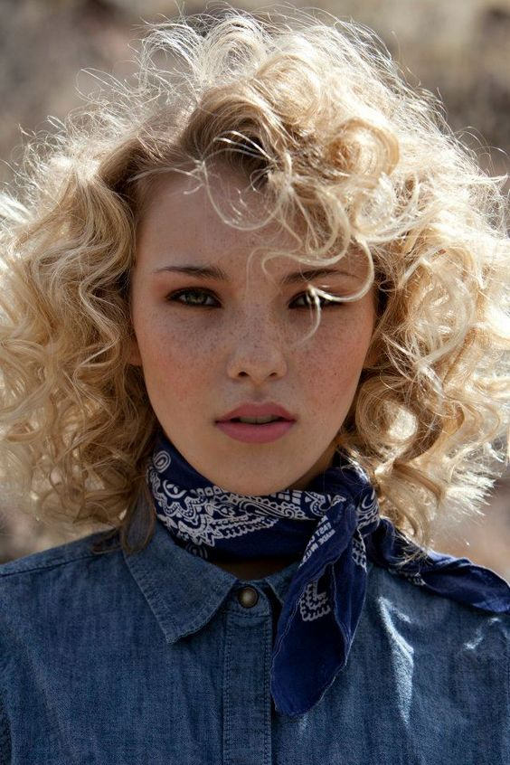 Western bandana head shot. Photographer: Eric Cassee  Makeup Artist: Tonya Noland  Fashion Stylist: Alexandra Evjen  Model: Rachel Yampolsky, Agency Arizona #styling #photography #portrait