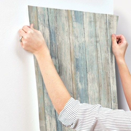 Distressed Wood Peel And Stick Wallpaper Single Roll Lelands Wallpaper Peel And Stick Wallpaper How To Distress Wood Peel And Stick Wood