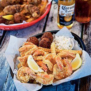 Coastal colors seaglass restaurant shrimp and a month for Destin fish market